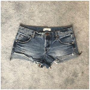 Free People Denim Shorts 26